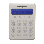LCD Touch Keypad for WGAP864 Alarm System - White