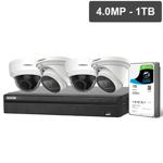 Compact Series 4 Camera 4.0MP IP Surveillance Kit (Motorised, 1TB)