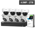 Compact Series 8 Camera 4.0MP IP Surveillance Kit (Motorised, 2TB)