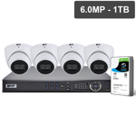 Pro Series 4 Camera 6.0MP IP Surveillance Kit (Fixed, 1TB)