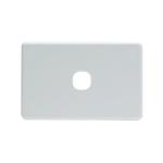 Grid Plate 1 Gang - White