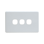 Grid Plate 3 Gang - White