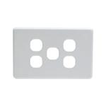 Grid Plate 5 Gang - White