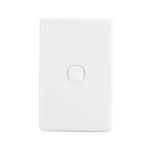Light Switch 1 Gang - White