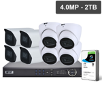 Pro Series 8 Camera 4.0MP IP Surveillance Kit (Fixed, 2TB)