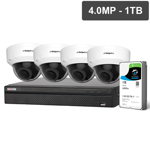 Compact Series 4 Camera 4.0MP IP Surveillance Kit (Motorised, 1TB)