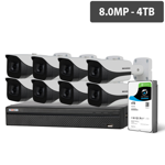 Compact 16 Channel 8.0MP HDCVI Surveillance Kit (8 x Fixed Cameras, 4TB HDD)