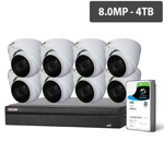 Compact 16 Channel 8.0MP HDCVI Surveillance Kit (8 x Motorised Cameras, 4TB HDD)