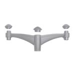 Midipilar Pole Bracket - Double (Grey)