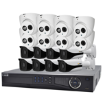 Professional 16 Channel 4.0MP IP Surveillance Kit (8 Domes, 8 Bullets)