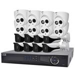 Professional 16 Channel 2.0MP IP Surveillance Kit (8 Domes, 8 Bullets)