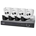 Professional 8 Channel 8.0MP IP Surveillance Kit (4 Domes, 4 Bullets)